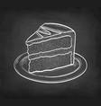 chalk sketch chocolate cake vector image