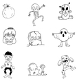 Character Halloween in doodle element vector image vector image