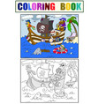 children coloring on the theme of pirates vector image vector image