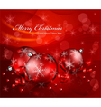 christmas red balls background 10 SS v vector image vector image