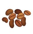 coffee beans pile cartoon robusta vector image