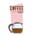 coffee time concept cartoon vector image vector image