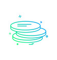 coins icon design vector image