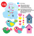 collection of colorful birds and birdhouses vector image
