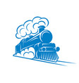 color pattern for design with retro train vector image
