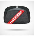 concept of russian hacker vector image