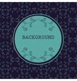Dark round frame with floral background vector image vector image