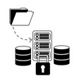 database server center file information security vector image vector image