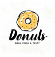 donuts logotype badge label vector image