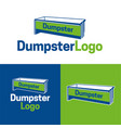 dumpster logo and icon vector image vector image