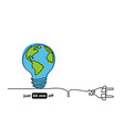 earth hour day sketch concept vector image