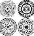 Ethnic lacy mandala patterns vector image vector image