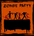 feast of zombie undead vector image