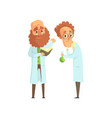 flat of two men scientists in vector image vector image