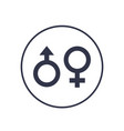 gender icons on white vector image