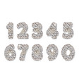 glitter silver numbers vector image vector image