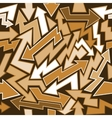 Graffiti Arrows Seamless Background vector image vector image