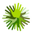 Green Hand Print icon vector image