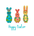 Greeting card with Easter bunny-3 vector image