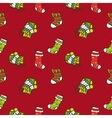 hand drawn Christmas or New Year seamless pattern vector image vector image
