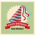 Happy Birthday design Retro vector image vector image