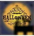 Happy Halloween message design on unfocused vector image