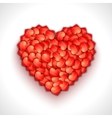Heart shape of hearts Valentine holiday vector image