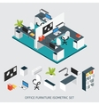 Isometric Interior Office Workplace Composition vector image vector image