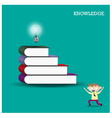 Knowledge and learning concept vector image vector image