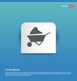 loader icon - blue sticker button vector image