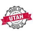 made in utah round seal vector image vector image