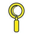 Magnifying glass isolated icon design