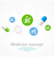 medical color infographic vector image vector image