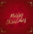 merry christmas abstract retro label sign vector image vector image