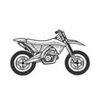 motocross motorcycle sketch engraving vector image