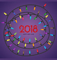 new year background with red christmas balls vector image