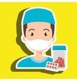 nurse young pills screen vector image