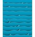 Ocean or Sea Waves Background vector image vector image