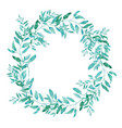 olive wreath isolated on white background green vector image vector image