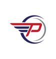 P logo template vector image vector image
