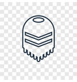 poncho concept linear icon isolated on vector image