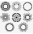 Radial Circle Elements set 002 vector image vector image