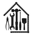 repair and service house with a tool vector image vector image