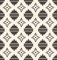 seamless pattern with black circles and gray diamo vector image