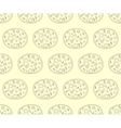 Seamless pattern with pizza in retro color vector image vector image