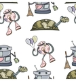 Seamless robot pattern vector image