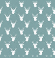 seamless winter pattern with silhouette of deer vector image vector image