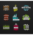 Second big set music equalizer logotype vector image