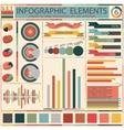 Set elements of retro infographics vector image vector image