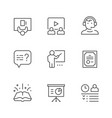 set line icons training vector image vector image